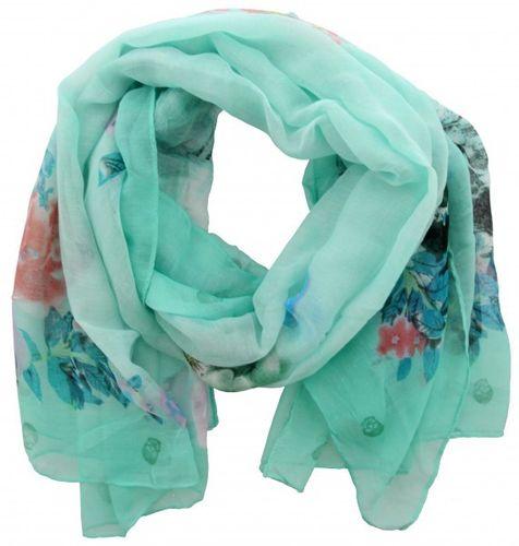 545c0e3bd1cc87 schönes Tuch mit Blumen und Totenkopfmuster blau
